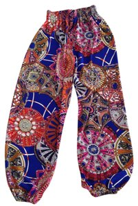 Relaxed Pants Cobalt Blue Multi