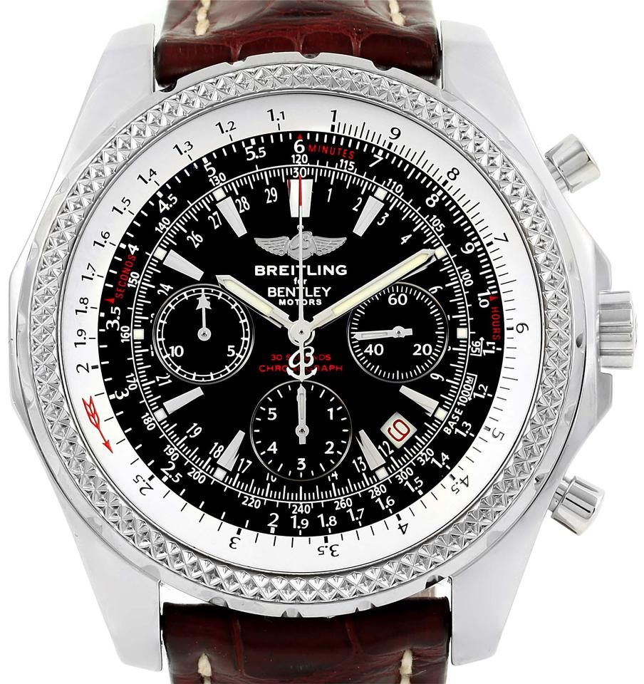 chronograph breitling watches motors black bentley watch f swisswatchexpo dial mens