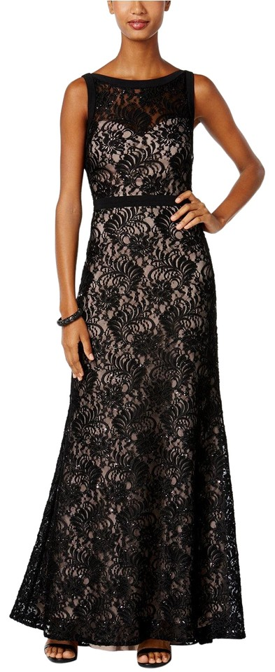 Night Way Collections Merlot Lace Halter Gown Long Formal