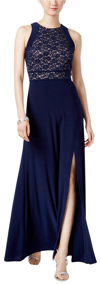 Night Way Collections Navy Lace A-line Gown Size 10 Dress