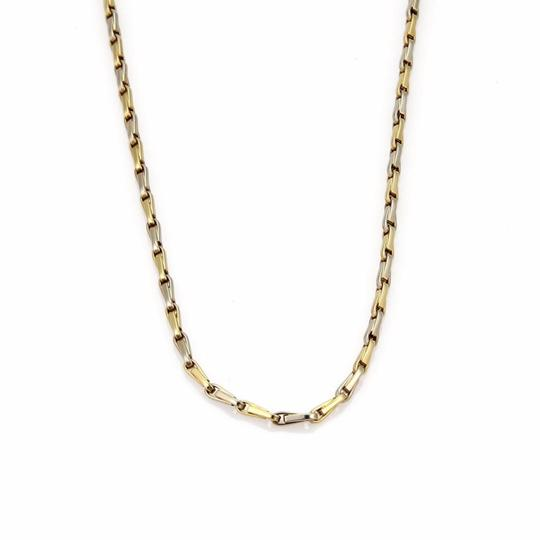 f5858f233 Tiffany & Co. Yellow White Gold Double Oval Link Chain 18