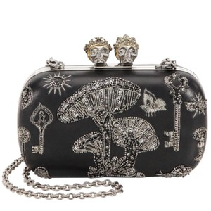 Alexander McQueen Sequins King Queen New Black Clutch