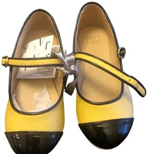 Janie and Jack yellow and black Flats