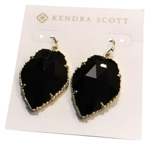 Kendra Scott black corley faceted stone drop earrings