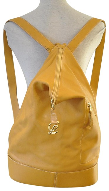 Item - Anton Yellow Leather Backpack