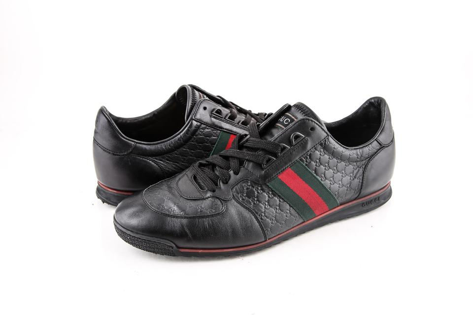 ff5c6144eb Gucci * Leather Sneaker with Web Black Shoes 37% off retail
