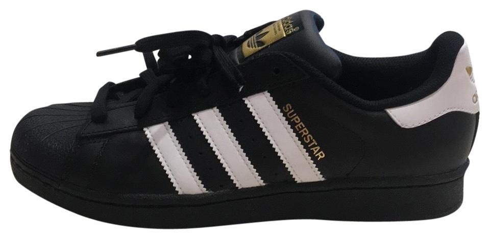 adidas Black Gold Gold Black White Superstar Sneakers 007c8e