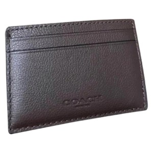 Coach coach men's card wallet with free gift box.