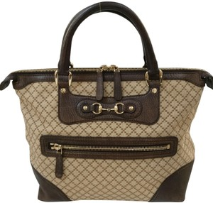 Gucci Gg Monogram Tote in brown