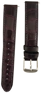 Michele Michele 16mm Deep Purple Alligator Watch Band