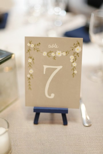 BHLDN Gray White Yellow Aster Table Numbers (1-20) Other Image 1