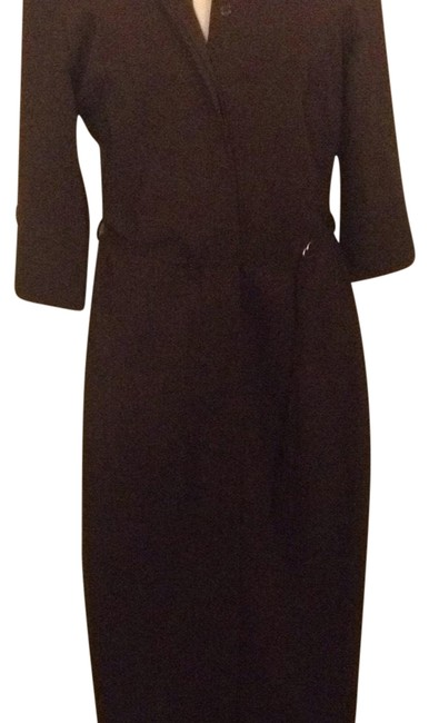 Item - Brown Mid-length Short Casual Dress Size 8 (M)