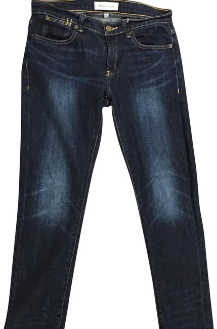 Item - Blue Dark Rinse Straight Leg Jeans Size 27 (4, S)