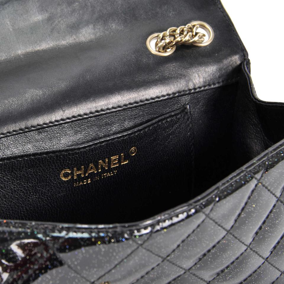 6b17fb059192 Chanel Classic Hyper Rare Iridescent Sparkle Flap With Black Patent Leather  Shoulder Bag - Tradesy