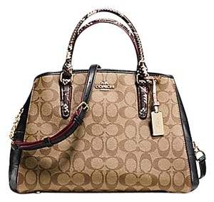 Coach Satchel in Brown/ lhaki