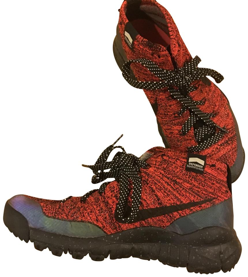 sneakers for cheap outlet online shop Nike ACG Red and Black Defender Series Flyknit Chukka Sneakers Size US  Regular (M, B) 64% off retail