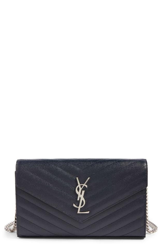 95998dbae109 Saint Laurent Ysl Monogram Quilted Envelope Wallet-on-chain Clutch ...