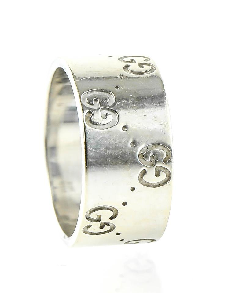 136507eed Gucci Gucci White Gold Icon Ring Image 0 ...