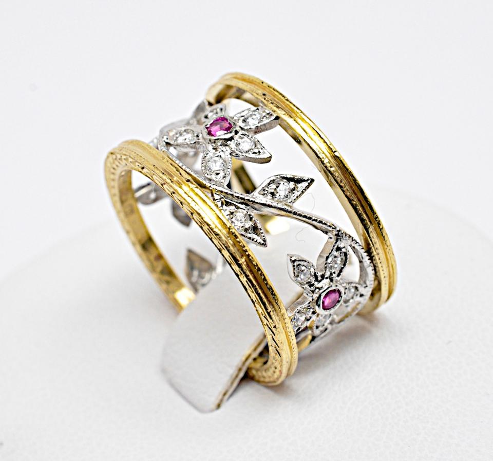 diamond jewelry rustic ring rings colorless product normal cathy lyst in waterman metallic gallery