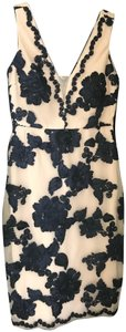 Nicole Miller Embroidered Sheath Floral Dress