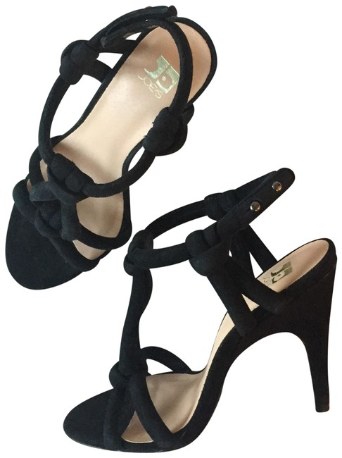 Item - Black Knotted Suede Sandals Size EU 35.5 (Approx. US 5.5) Regular (M, B)
