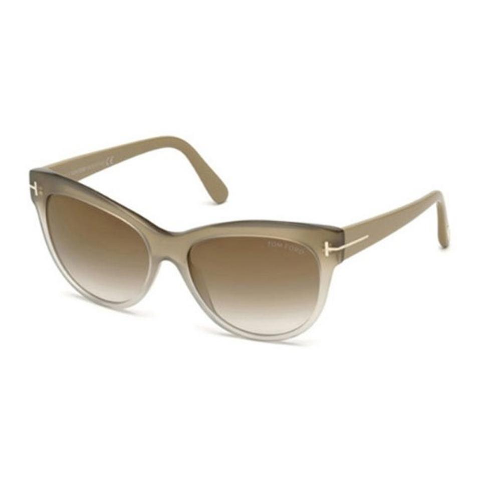 8c85a08e654 Tom Ford Beige Brown Mirror Ft0430 Lily 59g Sunglasses - Tradesy