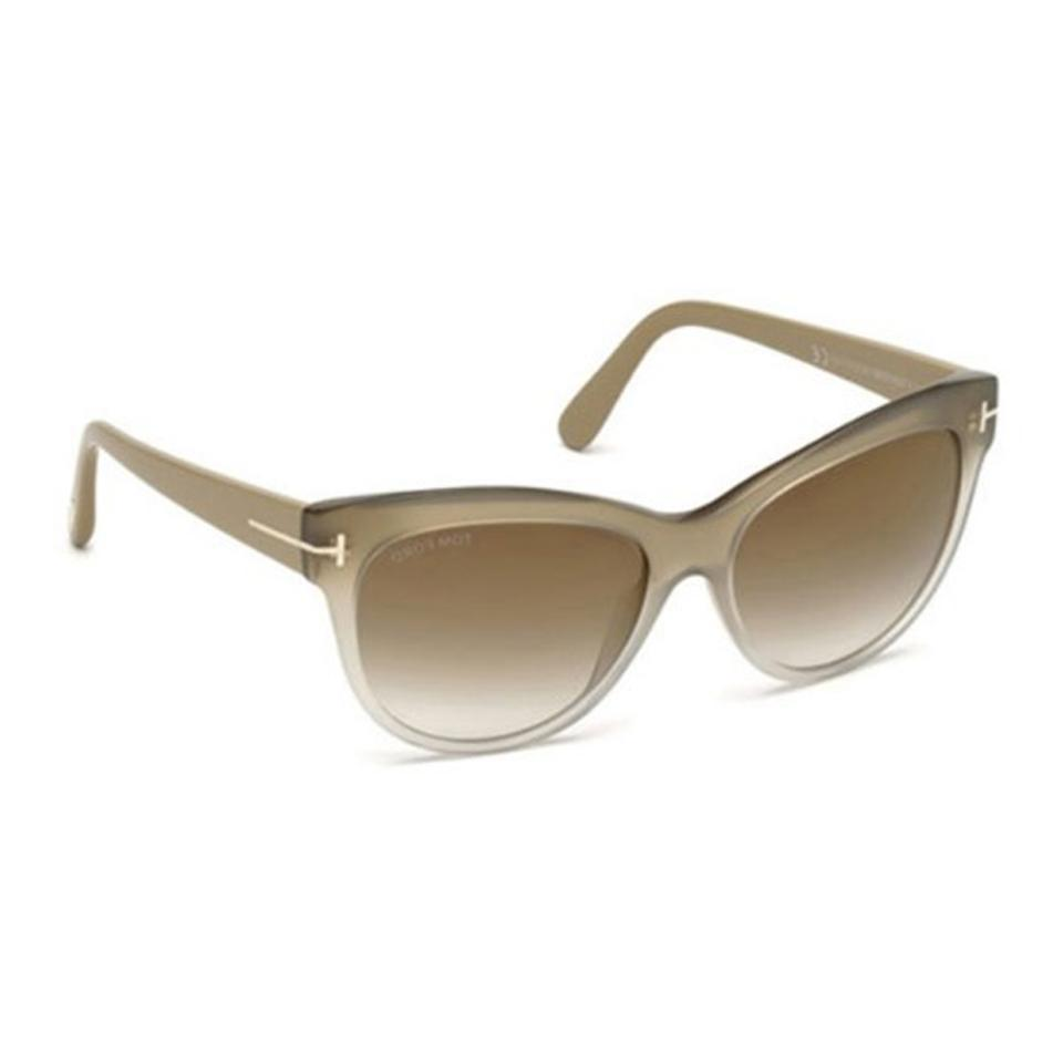 9078dcfefde Tom Ford Tom Ford Sunglasses FT0430 Lily 59G beige brown mirror Image 3.  1234
