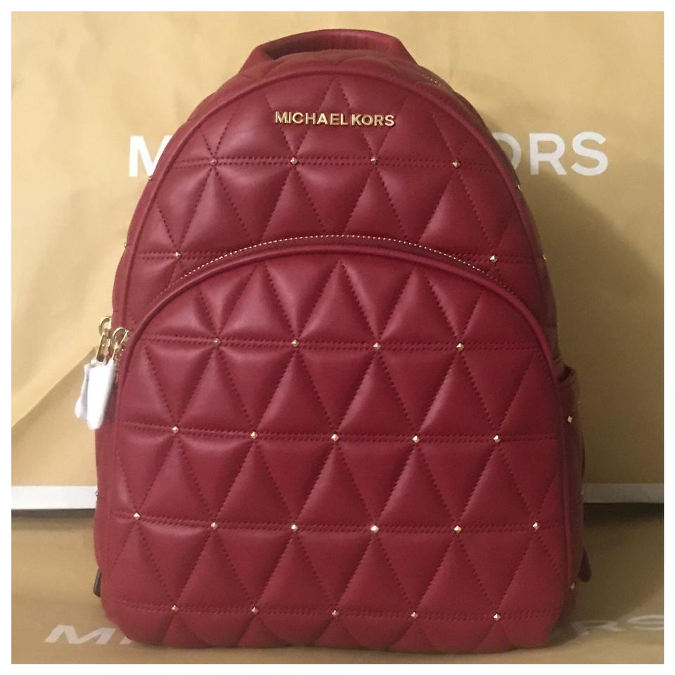 be99ce642d182d Michael Kors Mk Abbey Md Studded Cherry Backpack - Tradesy
