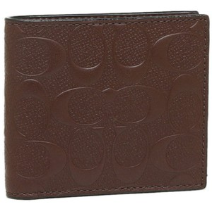 1b6ee288217c Coach COACH men's SIGNATURE Embossed logo leather wallet Coin 75363