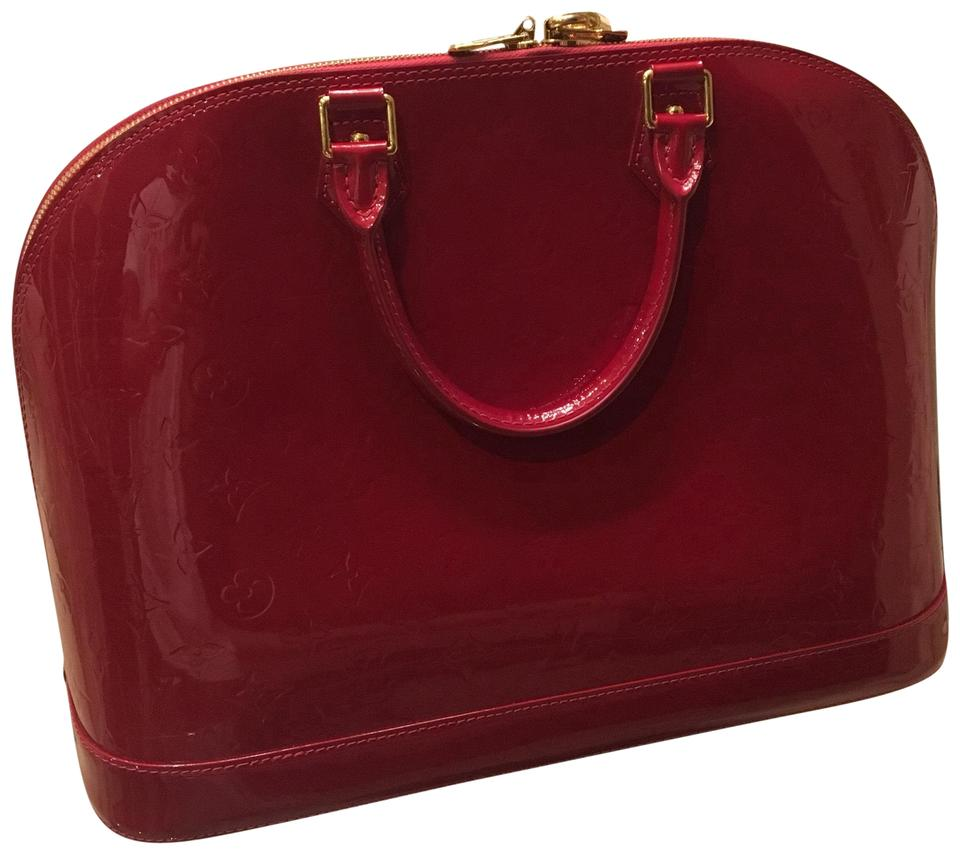 Louis Vuitton Alma Large Red Patent Leather Satchel - Tradesy da68d6858d