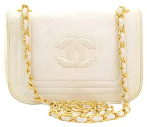 Chanel Lambskin Leather Front Flap Shoulder Bag