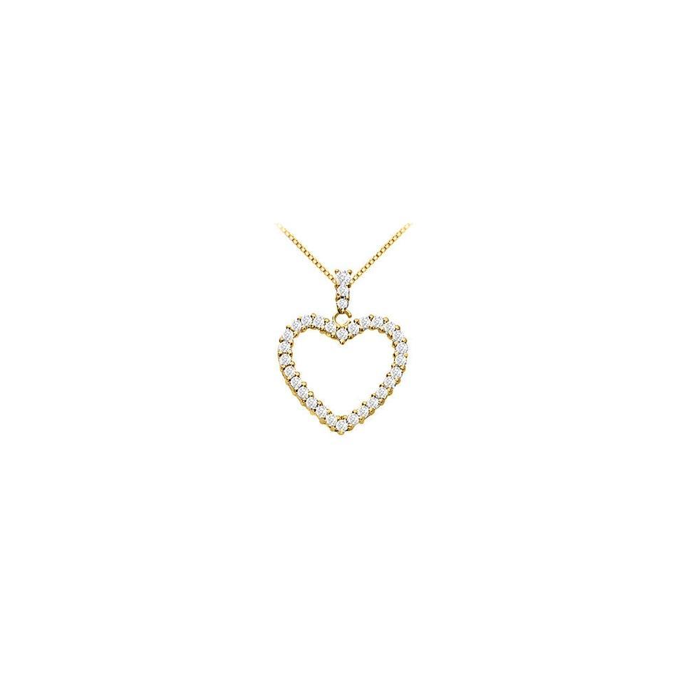White yellow gold vermeil silver floating heart cubic zirconia marco b gold vermeil silver floating heart cubic zirconia pendant necklace 03 aloadofball Image collections