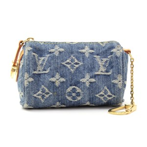 Louis Vuitton Louis Vuitton Mini BB Speedy Monogram Denim Pouch Cles Key Chain LH768