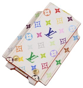 Louis Vuitton Louis Vuitton White Multicolor Monogram Canvas iPod Mini Case LH839
