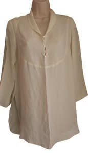 Max Studio Chic Rayon Exclusive Top ivory