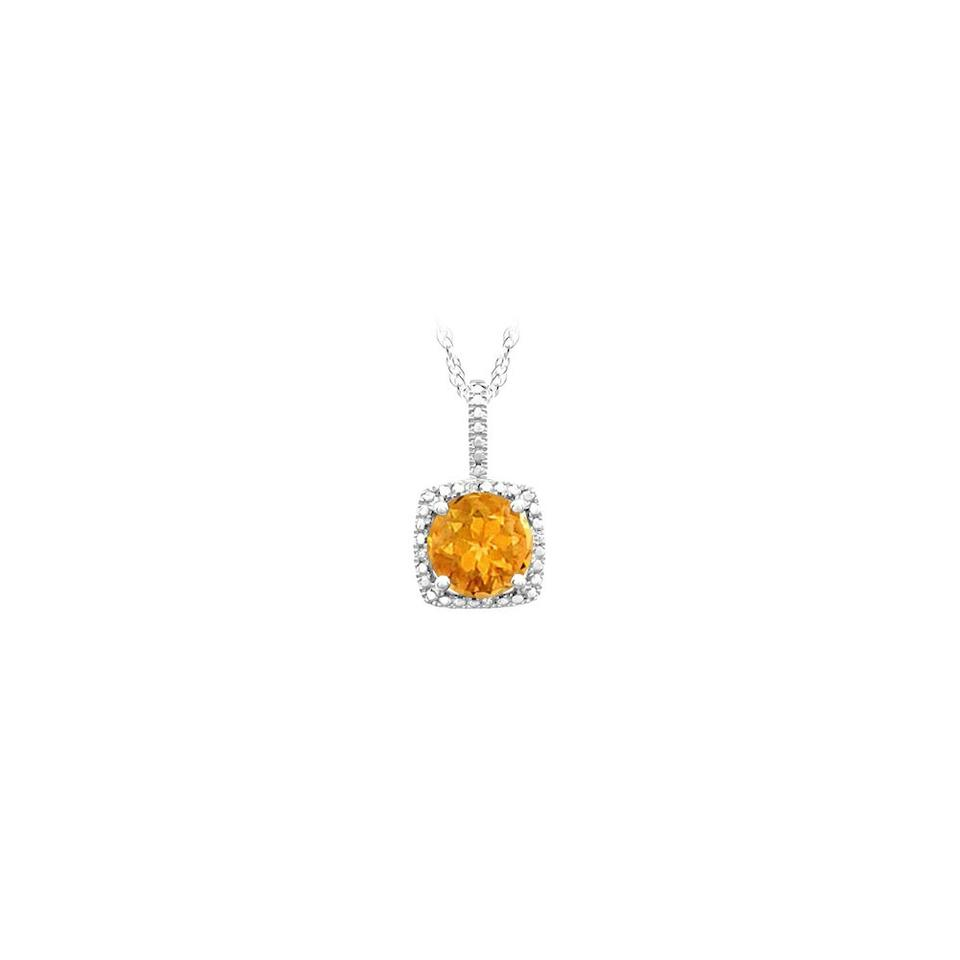 Yellow silver november birthstone citrine and diamond pendant in 925 marco b november birthstone citrine and diamond pendant in 925 sterling silver aloadofball Images