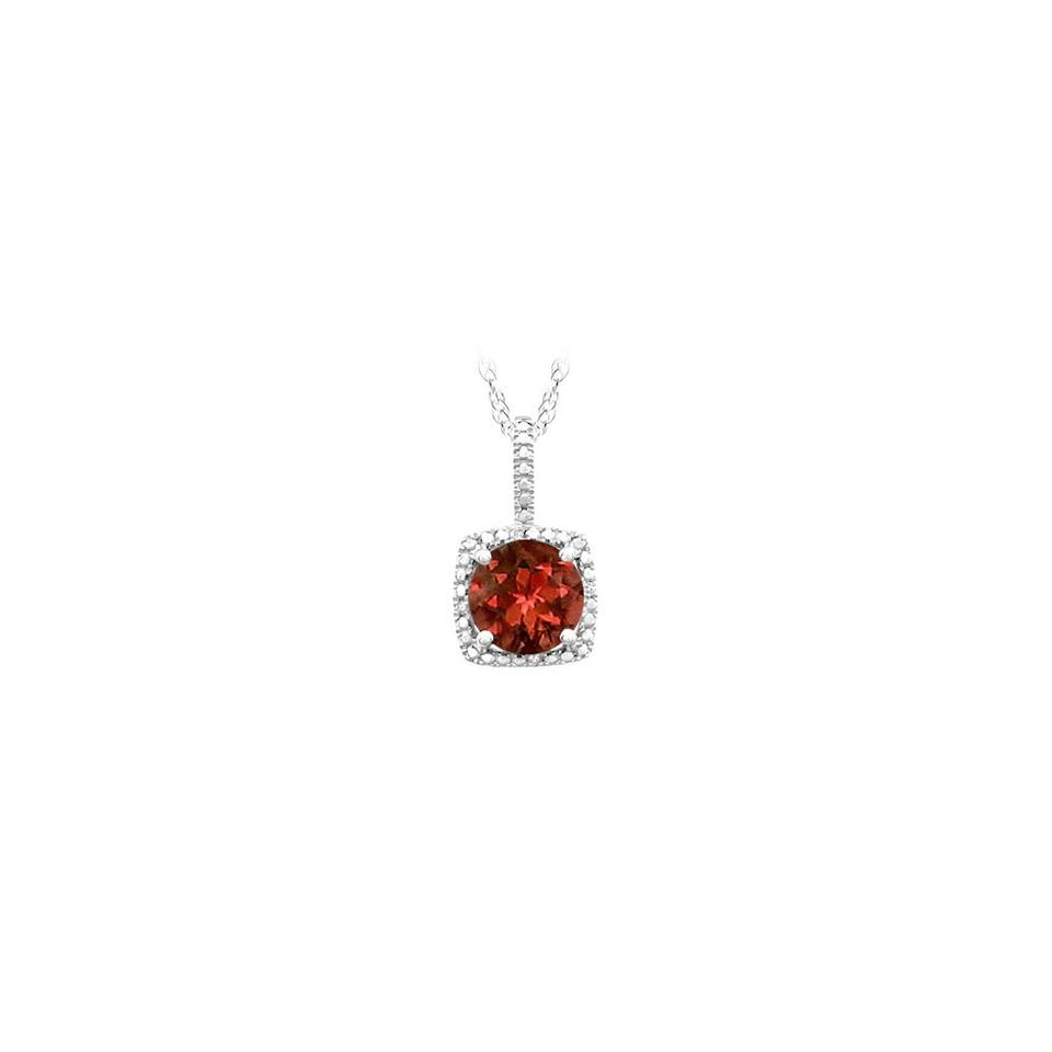 Red silver january birthstone garnet and diamond pendant in 925 marco b january birthstone garnet and diamond pendant in 925 sterling silver 1 aloadofball Images