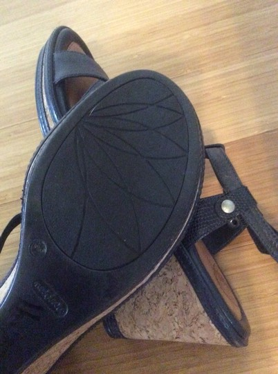 Other Comfort Sandal Cushioned Walking Fashionable Comfort black leather Wedges