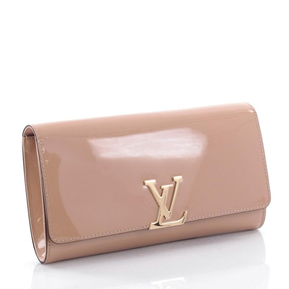909dc0b698c7 Louis Vuitton Louise East West Nude Patent Clutch - Tradesy