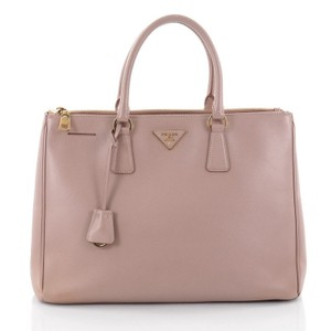 Prada Leather Tote in light pink