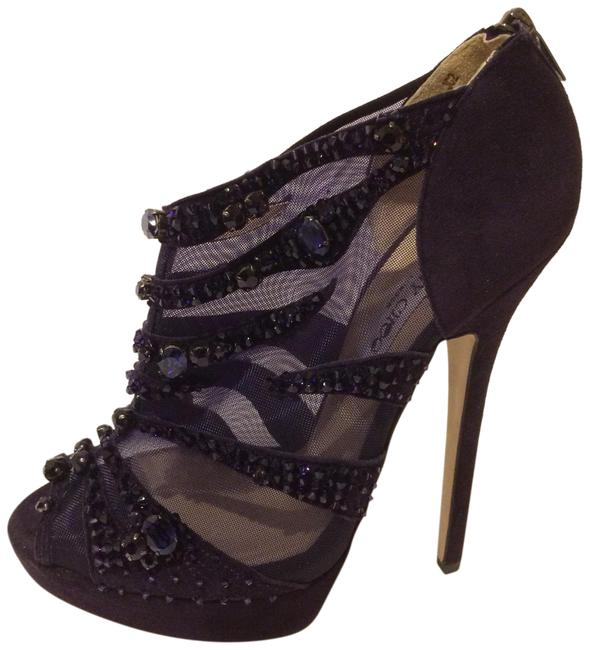 Item - Purple New Kilin Crystal Embellished Mesh and Suede Bootie Formal Shoes Size EU 41 (Approx. US 11) Regular (M, B)