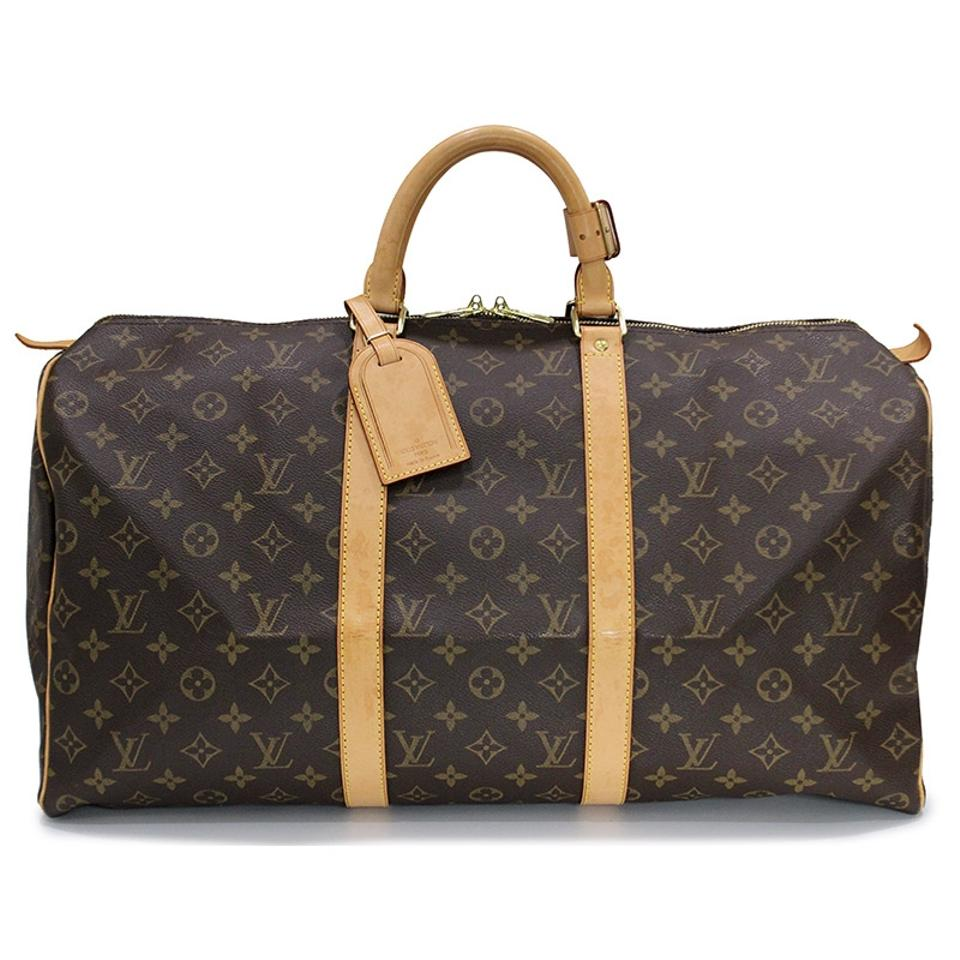 Louis Vuitton Keepall 45 Monogram Canvas Luggage Boston Brown ... a326ad2486b1f