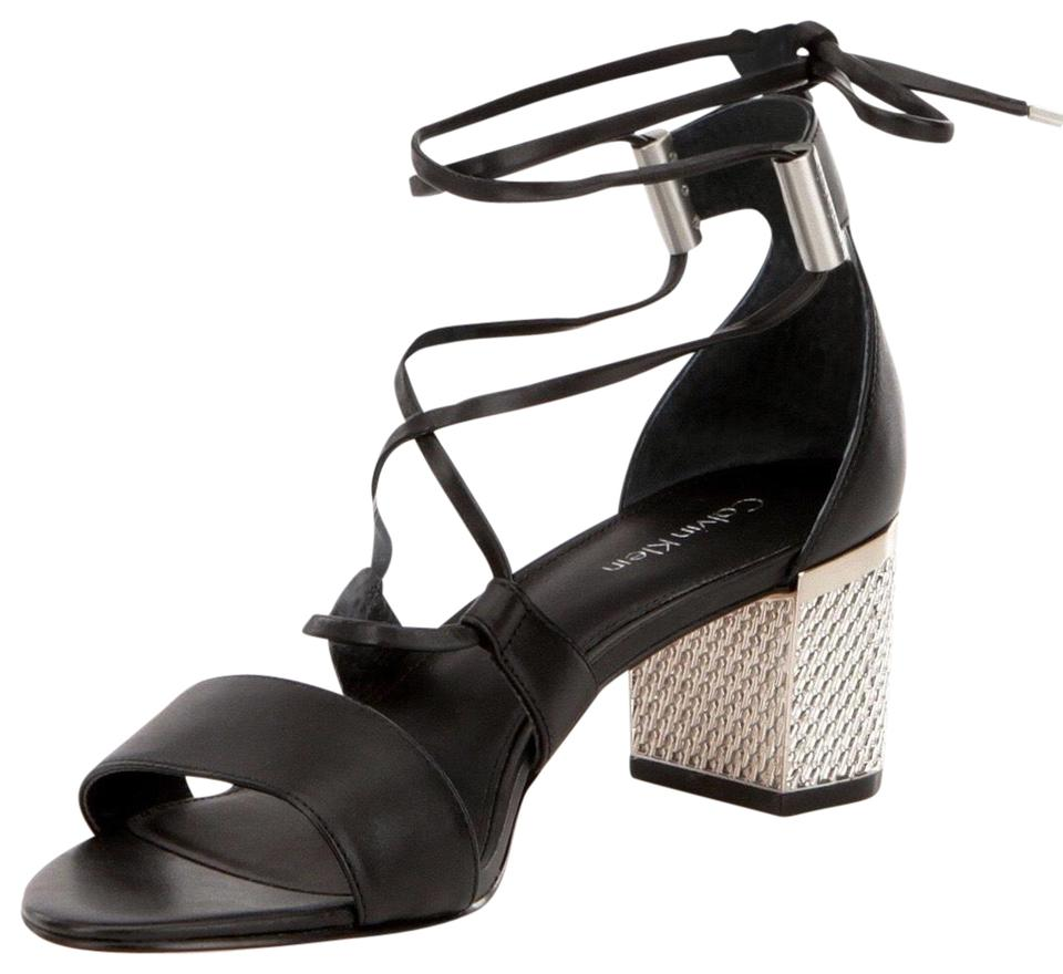 dc42e6145bd Calvin Klein Black New Women s Natania Dress Sandal Pumps Size US ...