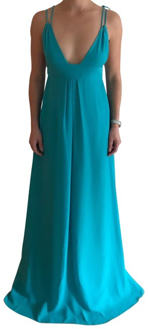 Item - Turquoise Custom Bridesmaid Gown Long Formal Dress Size 0 (XS)