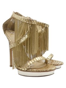 Brian Atwood Fringe Gold Pumps