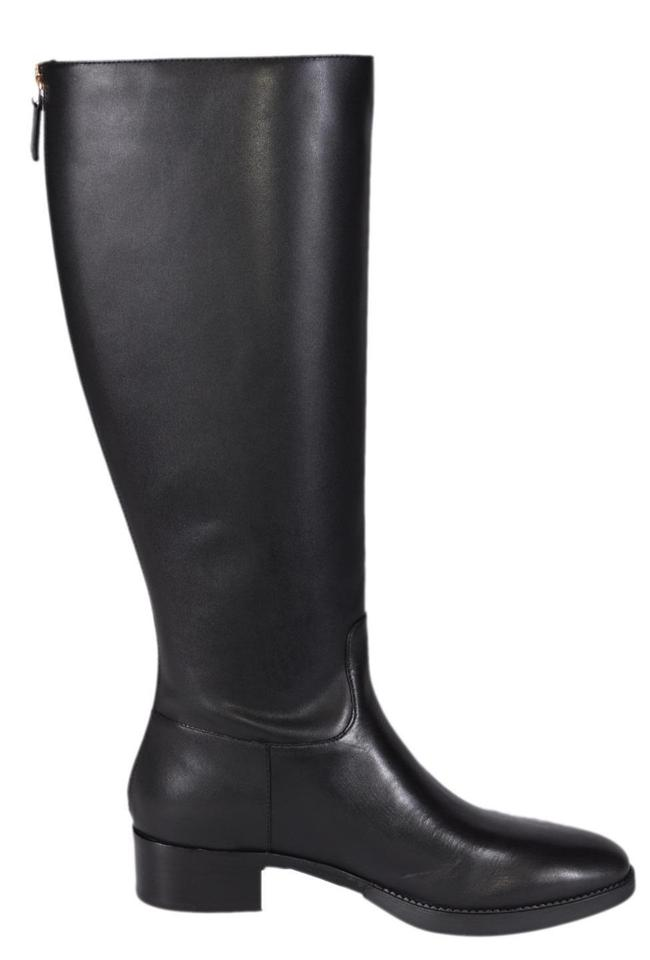3f57b846e400 Tory Burch Black New Vegetable Leather Sidney Knee High Riding Boots ...