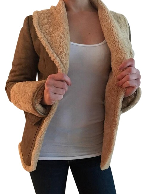 Item - Brown Camel G Shearling Jacket Coat Size 0 (XS)