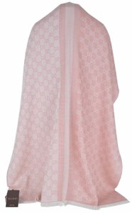 Gucci NEW Gucci Women's 282390 Wool Silk Pink GG Guccissima Reversible Scarf