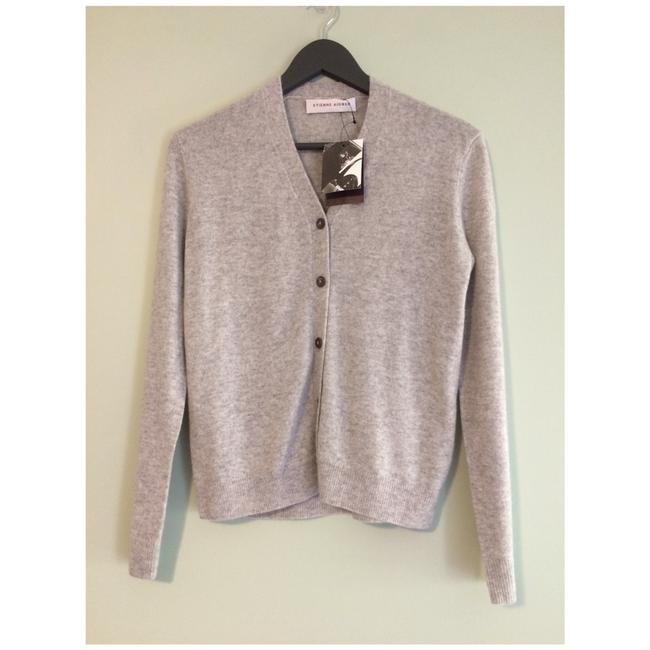 Item - New Cashmere Button Front Cashmere Light Heather Grey Sweater