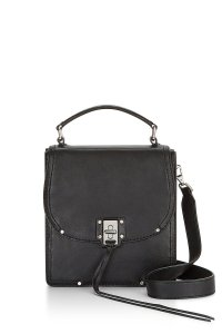Rebecca Minkoff Leather Silver Hardware Removable Strap Top Handle Cross Body Bag